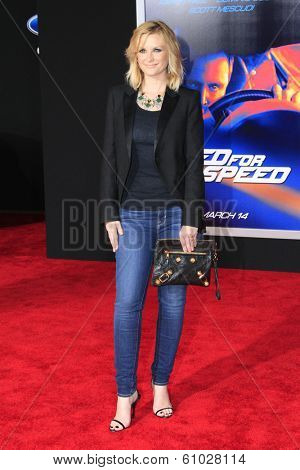LOS ANGELES - MAR 6: Bonnie Somerville at the premiere of DreamWorks Pictures' 'Need For Speed' at TCL Chinese Theater on March 6, 2014 in Los Angeles, California