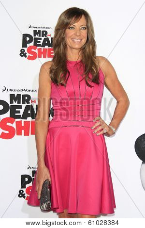 LOS ANGELES - MAR 5: Allison Janney at the premiere of 'Mr. Peabody & Sherman' at Regency Village Theater on March 5, 2014 in Los Angeles, California