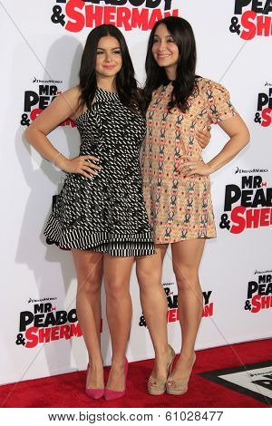 LOS ANGELES - MAR 5: Ariel Winter, Shanelle Workman at the premiere of 'Mr. Peabody & Sherman' at Regency Village Theater on March 5, 2014 in Los Angeles, California