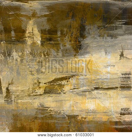 art abstract acrylic background in beige, yellow, grey and brown colors