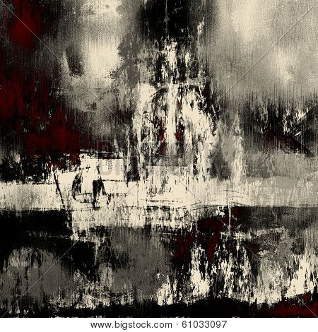 art abstract acrylic background in white, black and red colors