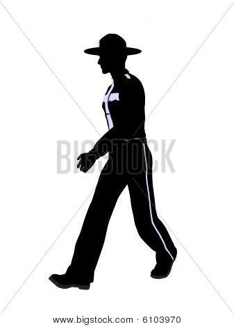 männliche Polizisten Abbildung silhouette