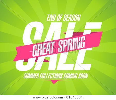 Great spring sale design in retro style.