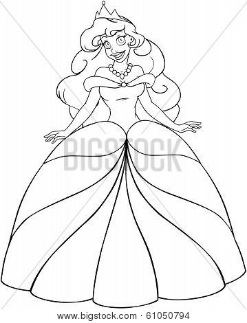 African Princess Coloring Page