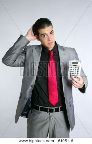 Businessman Formal Suit Bad News Reports