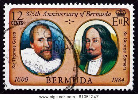Postage Stamp Bermuda 1984 Thomas Gates, George Somers