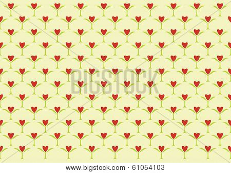 Pattern Background With Hearts