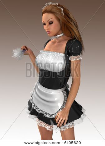 Sexy French Maid at Your Service