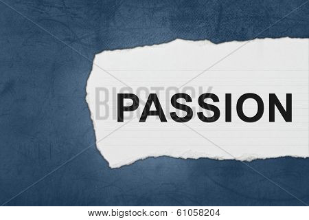 Passion With White Paper Tears