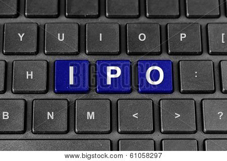 Ipo Or Initial Public Offering Word On Keyboard