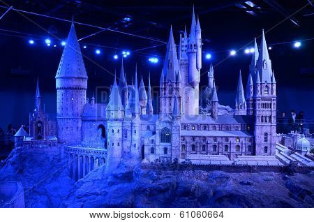 Scale model of Hogwards, Warner Bros studio, London