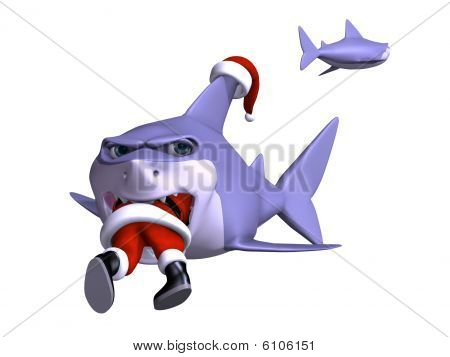 Shark Swallowing Santa