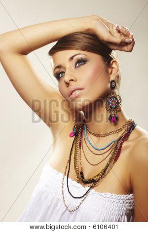 Fashion Woman With Jewelry