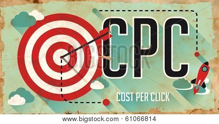 CPC Concept. Poster in Flat Design.