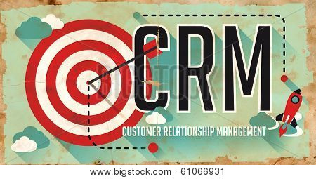 CRM Concept. Poster in Flat Design.