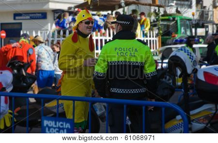 Chick And Policeman