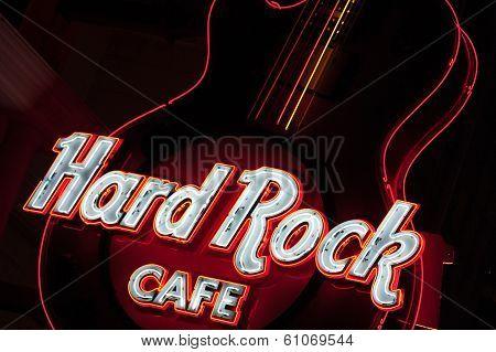 Guitar At Entrance.hard Rock Cafe Niagara Falls