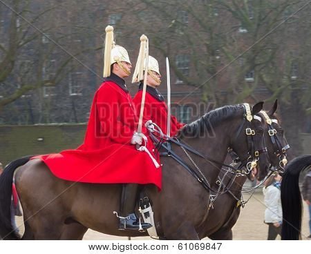 London Horse Guards On Horseback