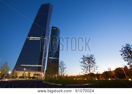 Las Cuatro Torres Financial Center Are The Highest Skyscrapers In Spain