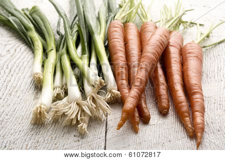 Organic Carrots And Leaks