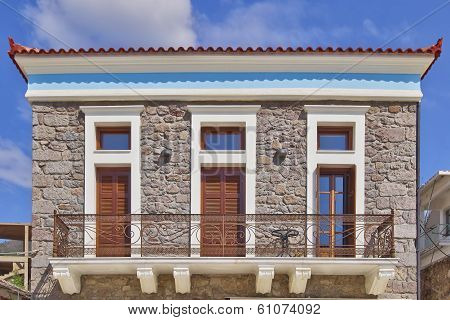 neoclassical house facade