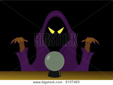 Halloween picture of the magician