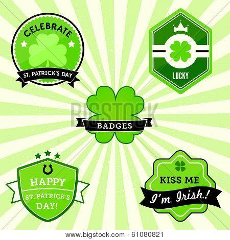 St. Patrick's Day Badges