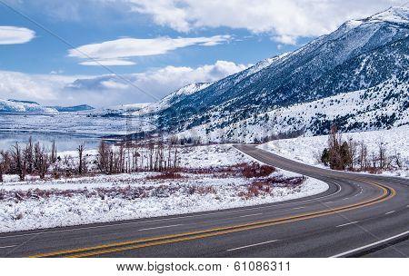 Sierra Nevada Highway in Winter
