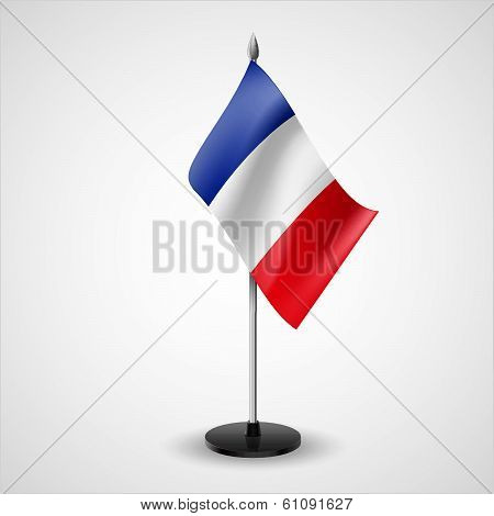 Table flag of France