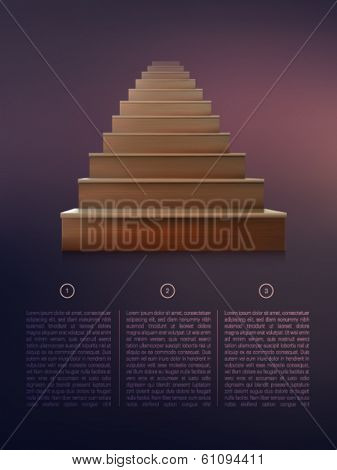 vector stairs illustration