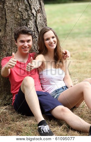 Attractive Motivated Young Teenage Couple
