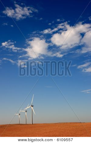 Alternative energy - wind turbine field
