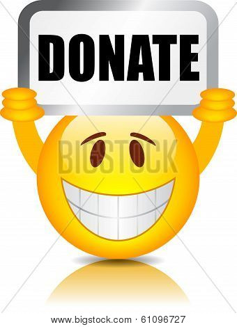 Donate vector sign