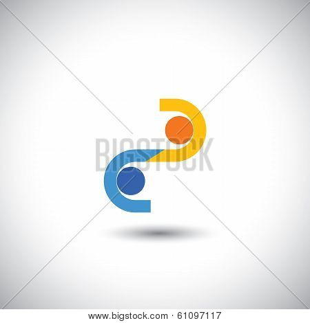 Two Businessmen Closing A Business Deal With Handshake - Concept Vector