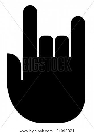Rock hand icon