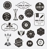 stock photo of shield  - Vintage design elements - JPG