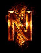 stock photo of letter n  - n - JPG