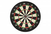 image of knockout  - Generic dartboard without dart on white background - JPG