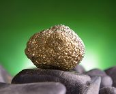 stock photo of pyrite  - Iron pyrite also known as a fool - JPG