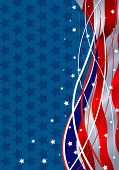 Stars and Stripes Fourth of July Patriotic Background. Raster version.