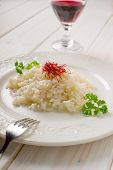 risotto with saffron pistil