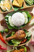 picture of nasi  - Popular Indonesian local food nasi ayam penyet - JPG