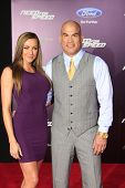LOS ANGELES - MAR 6: Amber Miller, Tito Ortiz at the premiere of DreamWorks Pictures' 'Need For Spee