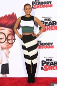 LOS ANGELES - MAR 5: Mel B at the premiere of 'Mr. Peabody & Sherman' at Regency Village Theater on