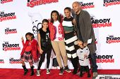 LOS ANGELES - MAR 5: Mel B, Stephen Belafonte, their children at the premiere of 'Mr. Peabody & Sher