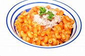Cavatappi Pasta With Canned Tuna Fish