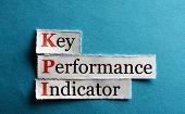 foto of indications  - key performance indicator KPI on blue paper - JPG