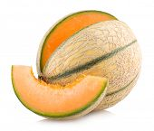 stock photo of cantaloupe  - cantaloupe melon - JPG