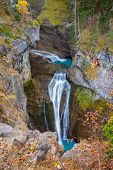 Cascada del Estrecho waterfall in Ordesa valley Pyrenees Huesca Spain Arazas river