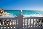image of gazebo  - Benidorm balcon del Mediterraneo Mediterranean sea white balustrade in Alicante Spain - JPG